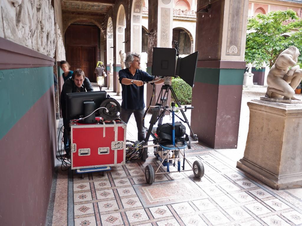 Mark Blezinger en tournage 3D aux Beaux Arts